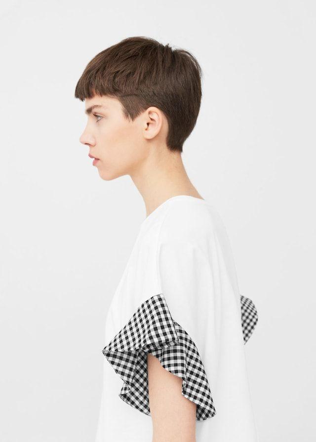 Ruffled sleeve t-shirt