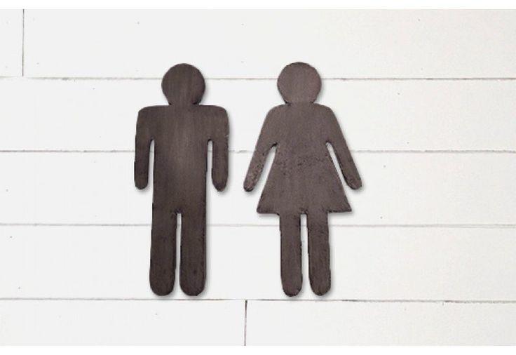 Metal Gender Signs, Gender Bathroom Signs, Bathroom Signs
