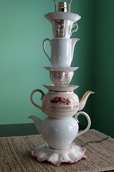 projects idea unique tea cups. diy project  sarah s china teaware lamp Design Sponge 59 best Teacup Teapot de LIGHTS images on Pinterest