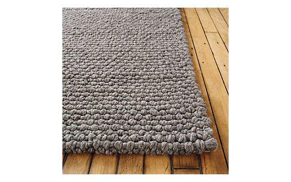 bedroom - gray thatch rug