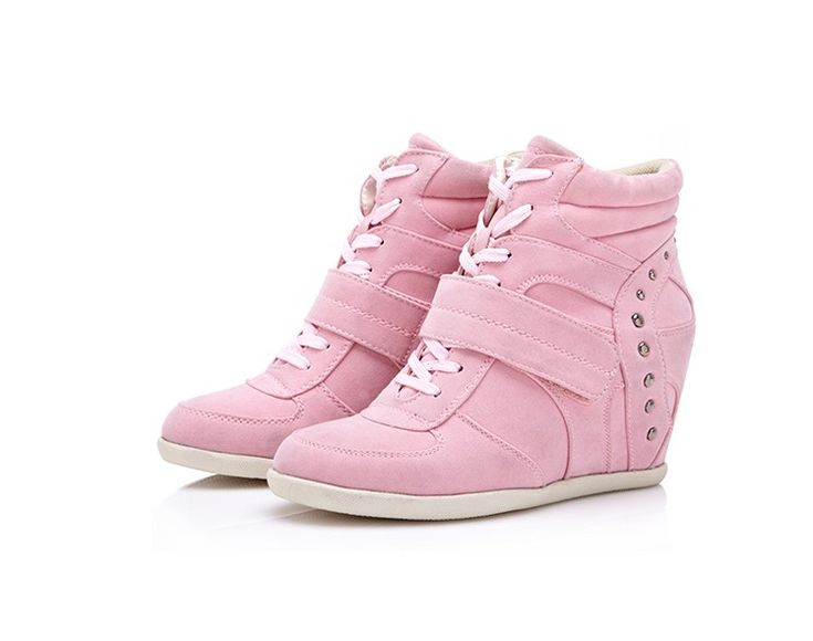 Isabel-Marant-Wedge-Sneakers-High-Top-Pink