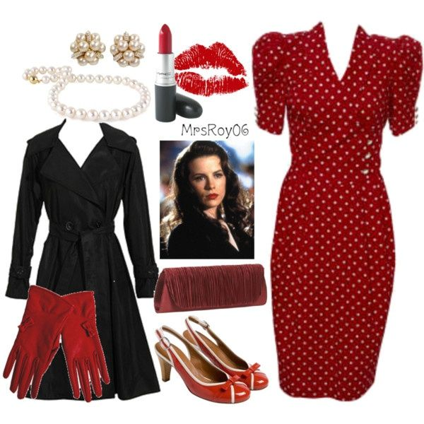 1940s Style love the red dress!
