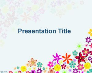 Best Powerpiont Template Images On Pinterest Free Stencils - Best of flower powerpoint background concept