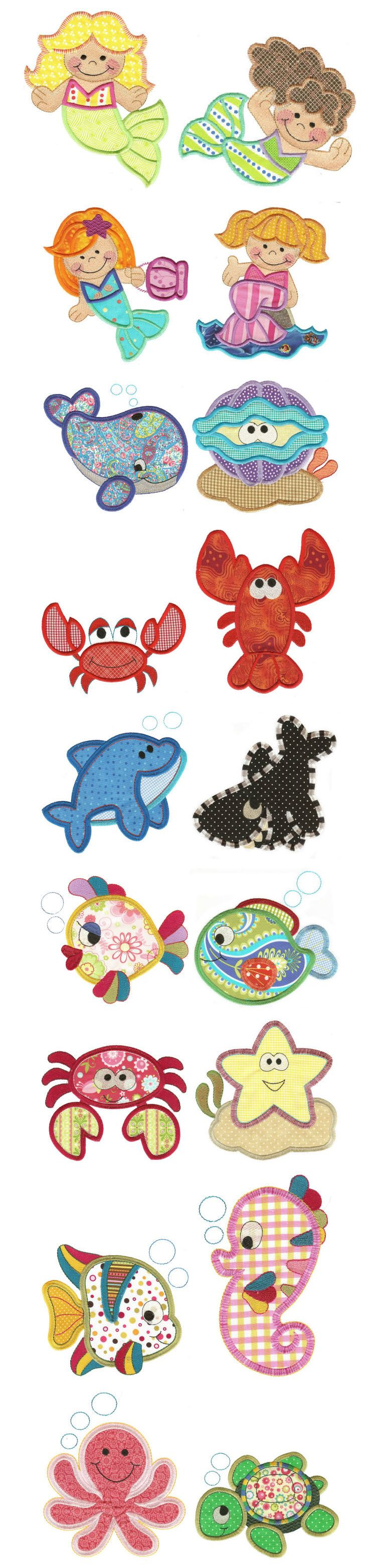 Embroidery | Free Machine Embroidery Designs | Jumbo Under the Sea Applique