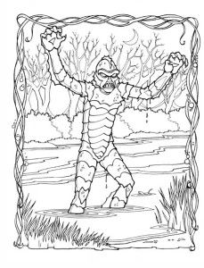 18 best collecting the gillman images on pinterest for Creature from the black lagoon coloring pages
