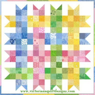 Scrap Happy Baby Ribbons Quilt Pattern http://www.victorianaquiltdesigns.com/VictorianaQuilters/PatternPage/ScrapHappy/ScrapHappyBabyRibbonsQuiltPattern.htm #quilting #baby