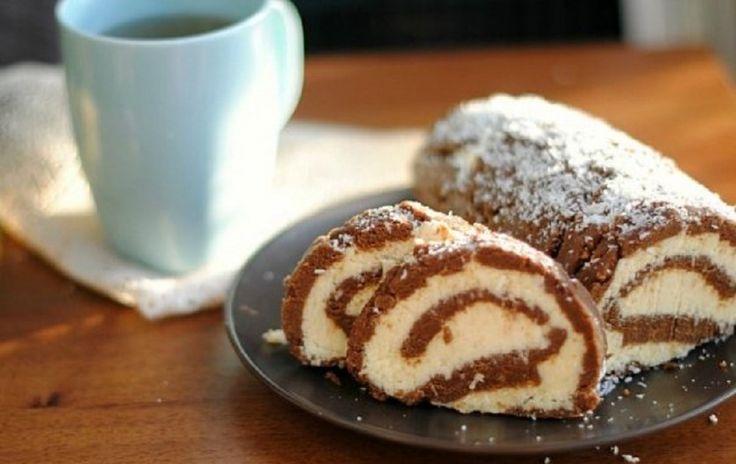 Bounty tekercs, sütés nélküli krémes finomság!