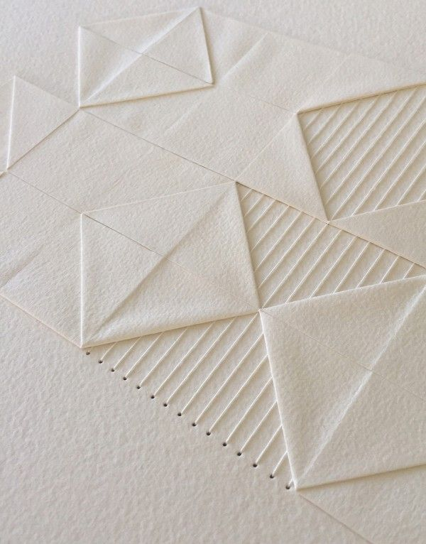 Liz Sofield folded paper and textile art