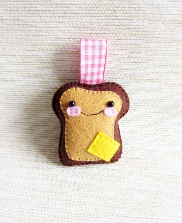 Portachiavi - Portachiavi - Mr Toast al Formaggio - un prodotto unico di HappyBeeLab su DaWanda