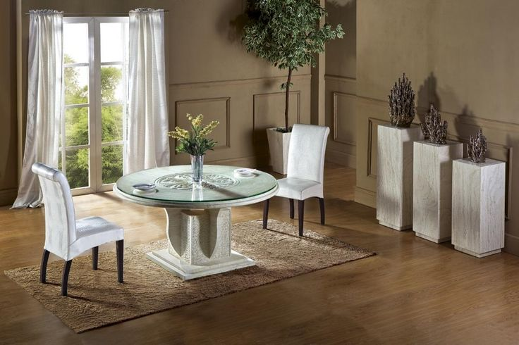 1499.00$  Buy here - http://ali7no.worldwells.pw/go.php?t=32493479666 - 2015 New Design Round Table Travertine Dining Table Set Health Natural  Marble Dining Furniture Marble Table NB-109 1499.00$