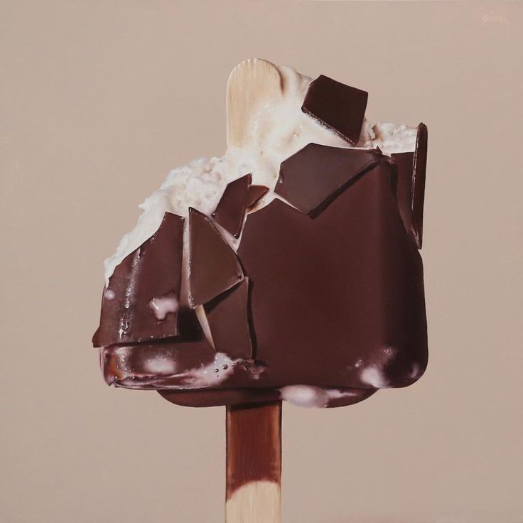 I'm salivating over this delicious hyper realism by American artist Oriana (Kacicek) Ingber. 'Ice Cream Bar', oil on panel / 12 x 12 inches. @oriana_studio on Instagram
