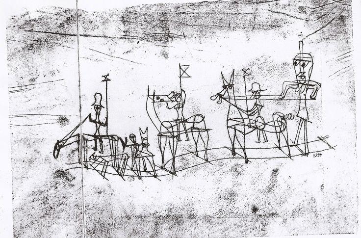Library scan - source Paul Klee drawings Klee