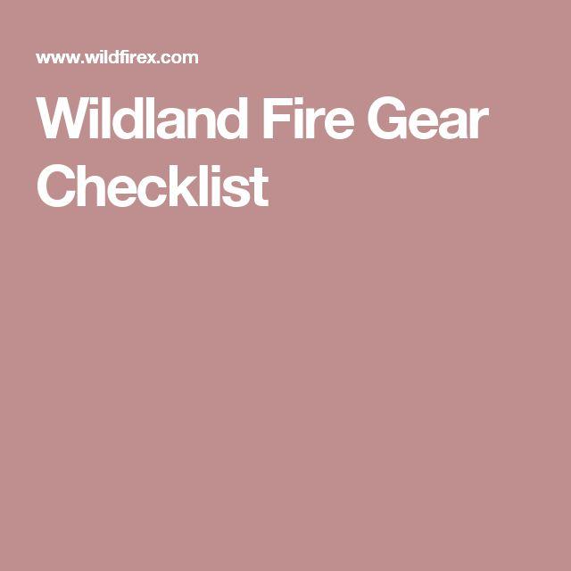 Wildland Fire Gear Checklist