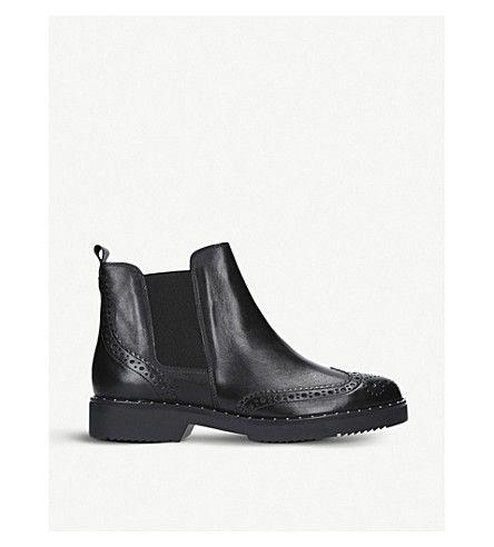 CARVELA   Still leather Chelsea boots #Shoes #Boots #Chelsea boots #CARVELA