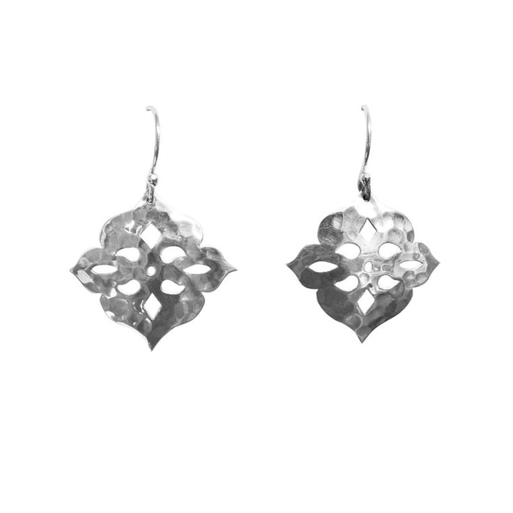 Another version of Thai Princess Earring in Sterling Silver. Simple and Bohemian. Available at www.murkani.com.au