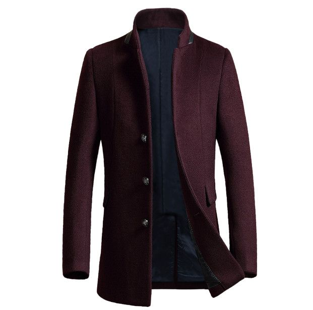 Cheap men woolen coat, Buy Quality men wool coat directly from China single breasted Suppliers: 	REMARK	   1 Please check the measurement chart carefully.	Because of different producing batch