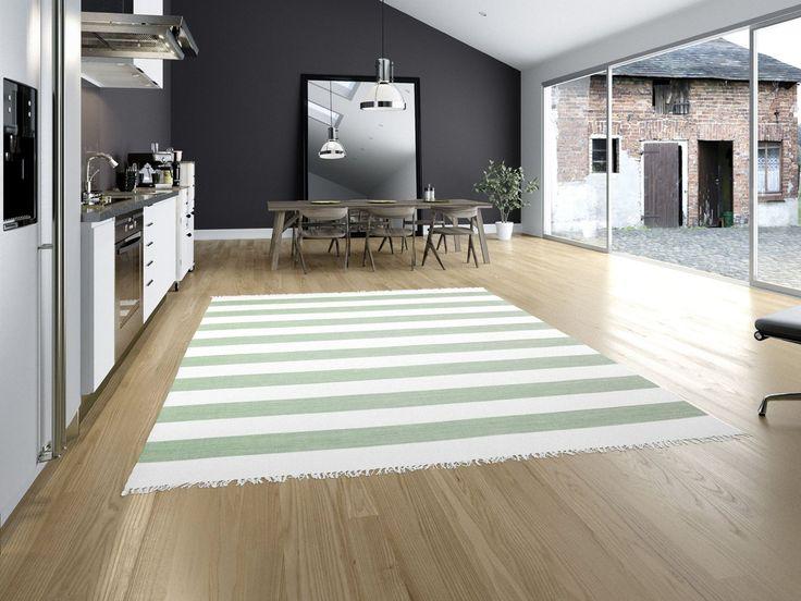 Cotton stripe - Mint 250x350 Moderner Teppich: Amazon.de: Küche & Haushalt