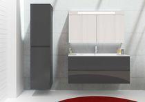 Doppel-Waschtischunterschrank / hängend / Holz / modern - BRONI - RIHO