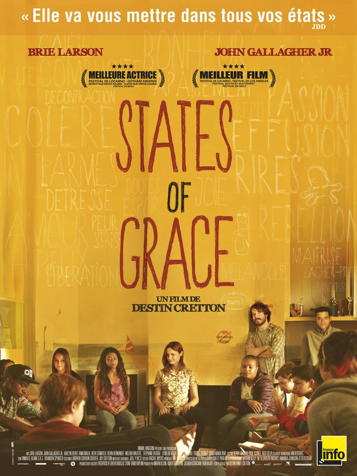 States of Grace est un film de Destin Cretton avec Brie Larson, John Gallagher Jr.. Synopsis : Sensible et déterminée, Grace est à la tête d'un foyer pour adolescents en difficulté. Parmi les jeunes membres de son équipe, diversement