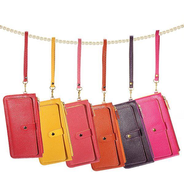 Fashion Candy Color Leather Coin Purse Card Clutch Zipped Handbag
