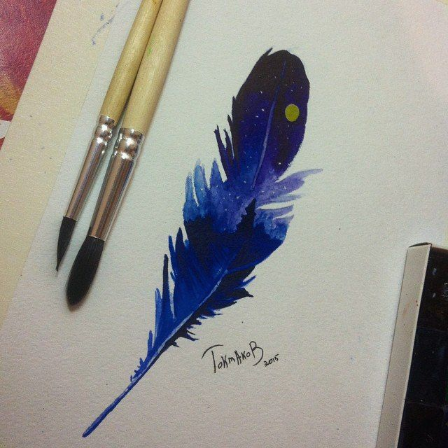 #watercolor #watercolortattoo #watercolorsketch watercolor tattoo sketch feather