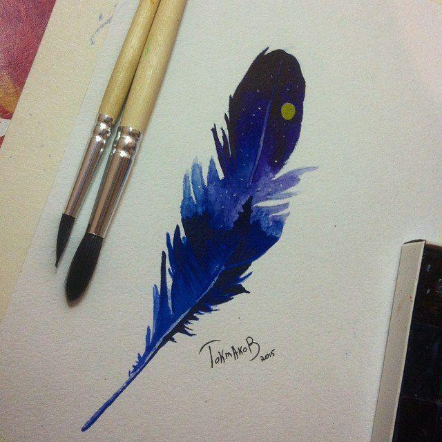 #watercolor #watercolortattoo #watercolorsketch watercolor tattoo sketch feather