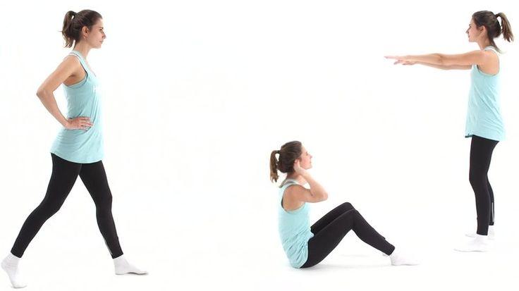 Schnelle und effektive Bauch-Beine-Po-Übung