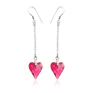 Valentines Day Bling Jewelry Heart Charm 925 Sterling Silver Pandora Beads Compatible