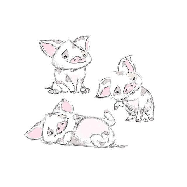 Because #pua is the cutest little piggy!! #fanart #moana