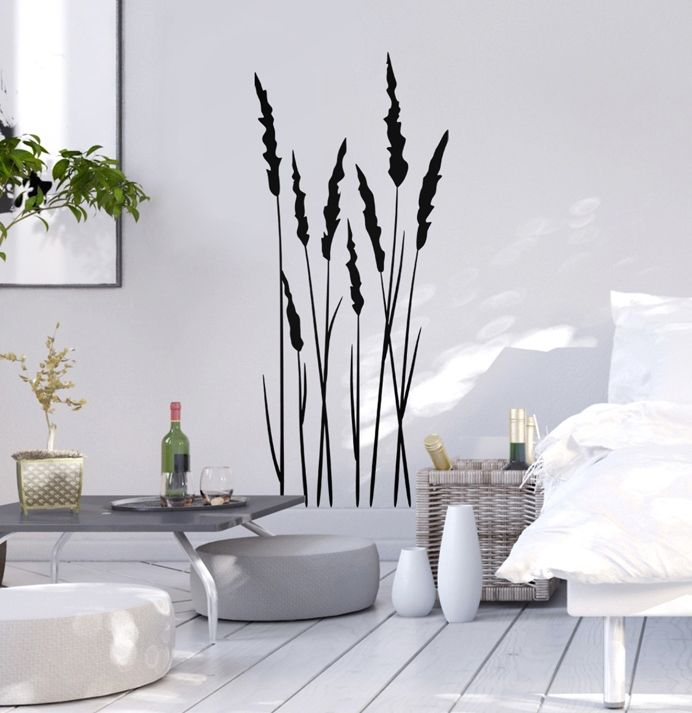 Plant motifs are one of many wall stickers for a bedrooms. Check out other wall decals on bimago page!