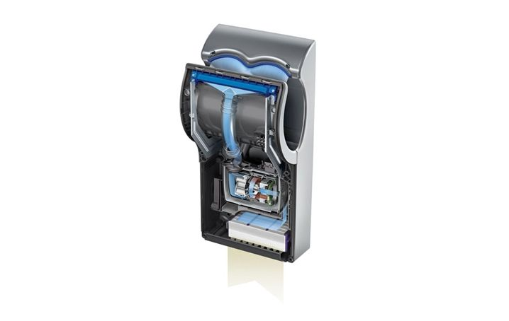 Inside of the Dyson airblade Mk2 hand dryer. It looks like the digital motor…