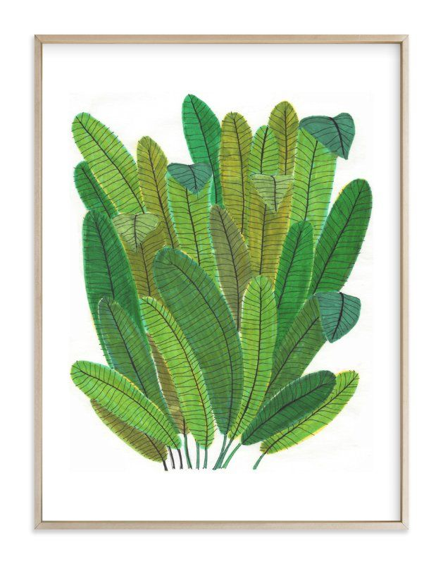 Banana Leaf Bouquet Limited Edition Art Print By Madeline Trait In Beautiful Frame Options And A Variety Art Pictures Ideas Wall Art Pictures Art Wall Kids