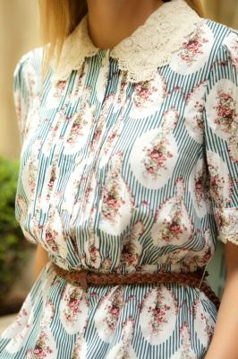 Miss Patina Antique Floral Dress