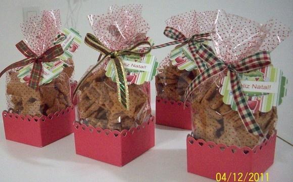 Caixa com Bolachinhas Amanteigadas: Tags, Crafty Food, Christmas, Box, Pretty, Related