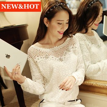 New fashion women lace chiffon blouse femininas blusas feminina camisas renda roupas Hollow Out blouses clothes shirt Tops http://tinyurl.com/ngzy4ue #womenfashion #top #tshirt #fashiontshirt #lacechiffonblouse #chiffon #blouse