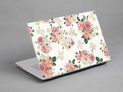 """14-15.4""""  Laptop Notebook Sticker Cover Decal Flower Sony Dell HP Acer Lenovo"""