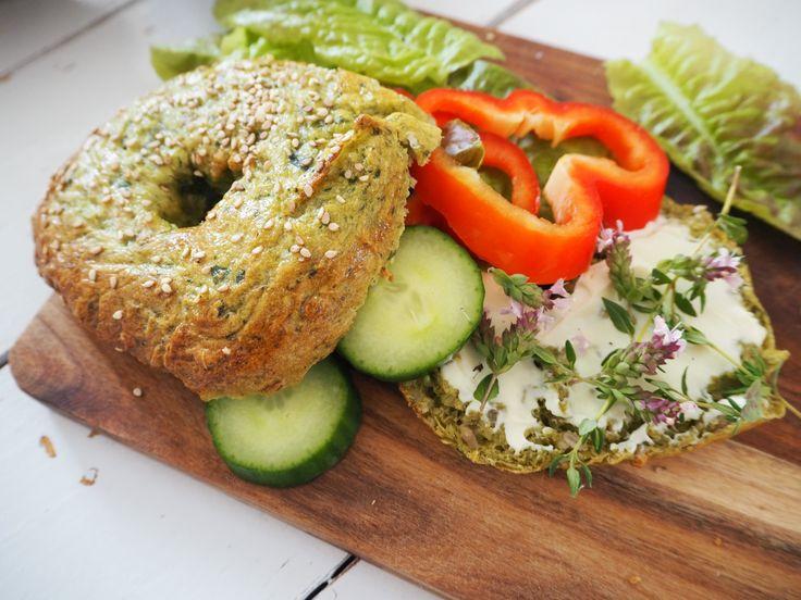 Bagels med spinat | Opskrift på hjemmelavede bagels med spinat