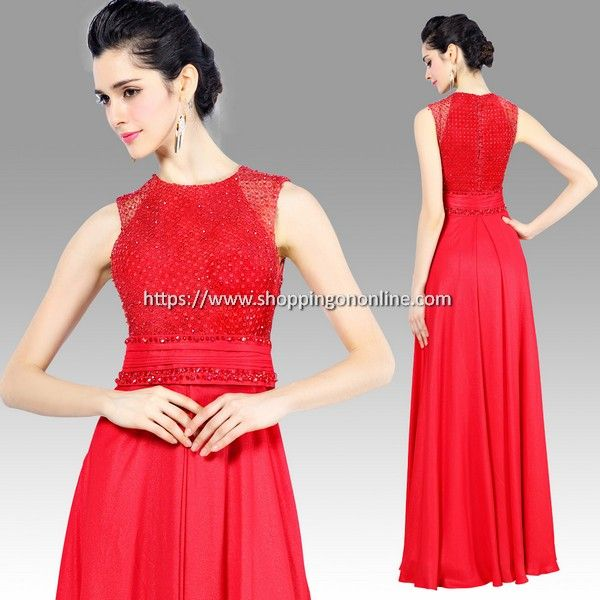 Red Evening Dress - Elegant Long Beaded $232.00 (was $290) Click here to see more details http://shoppingononline.com/red-evening-dresses/red-evening-dress-elegant-long-beaded.html #ElegantEveningDress #LongEveningDress #RedEveningDress #RedDress