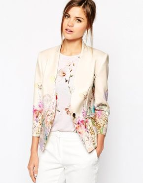 Ted Baker Neoprene Jacket in Wispy Meadow Print sob sob why can't I be a rich girl?!