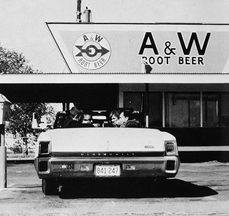 Cruising through the A&W in your convertible, back in the ...