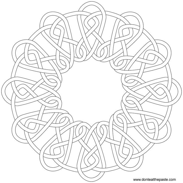 Celtic mosaic coloring pages ~ Celtic knot- round | coloring | Pinterest | Colors, Search ...