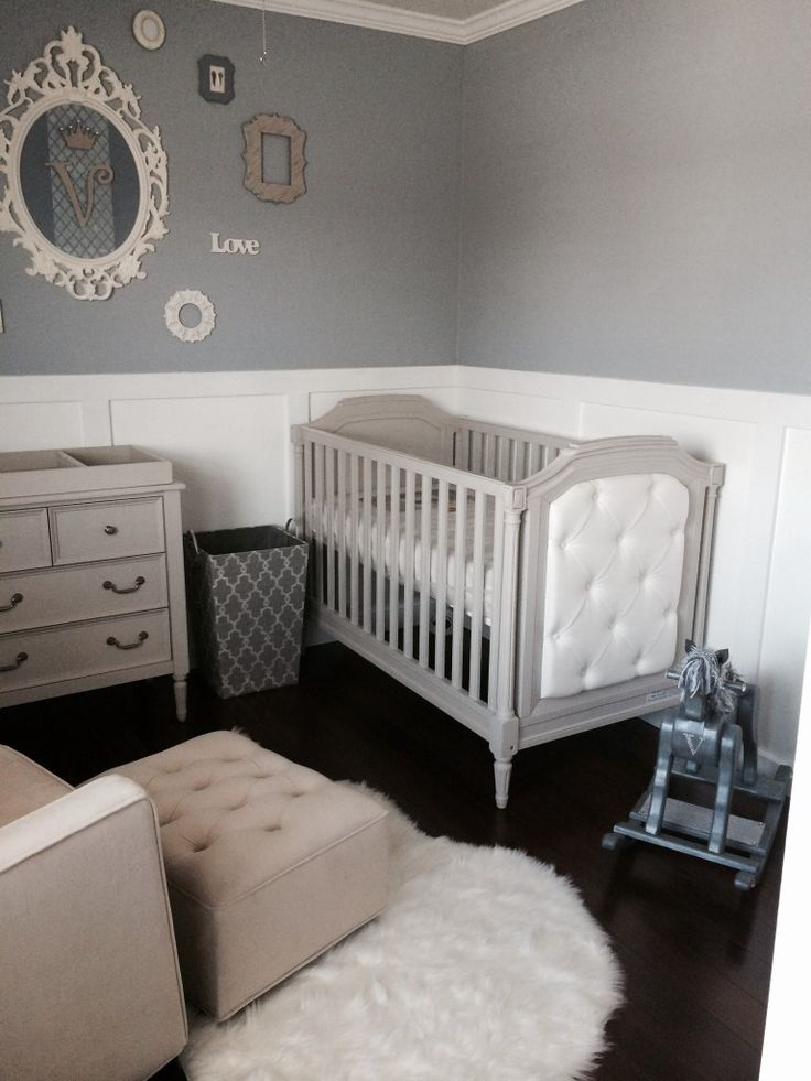 elegant baby boy nursery - White Baby Crib