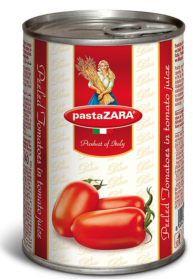 Peeled tomatoes in tomato juice Pasta Zara #tomato #pasta #food#italy