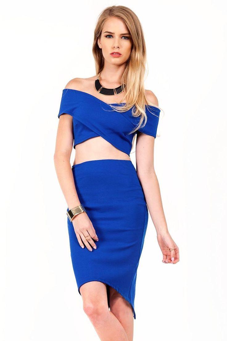 Iris Off Shoulder Crop Top Skirt Set - Slimskii | crop top and ...
