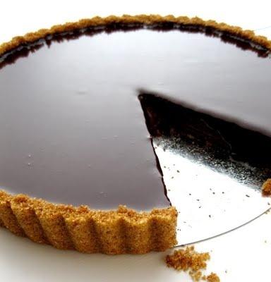 Dark chocolate tart! wow!