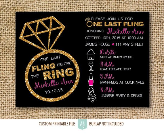 One of our personal favs and most popular designs. Printable bachelorette or hen party invitation. Click through for matching games, decorations, thank you cards, and more. Or shop our 800+ designs for weddings, anniversaries, new babies, and more. Only at Aesthetic Journeys