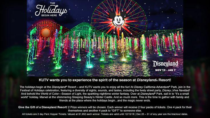 Disneyland Park Hopper Ticket Sweepstakes (2News AM) kutv.secondstreetapp.com/og/9857c74e-da12-45ef-ac72-1daa1adbfd77/referrals/8a4324f8-763f-42c5-98a4-33d732289328