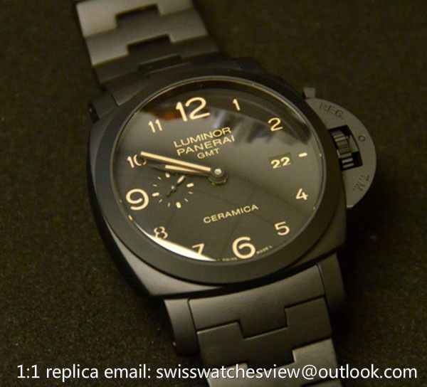 Panerai Luminor GMT Ceramica PAM00438 Panerai Luminor GMT Ceramica PAM00438 [PAM00438] - $447.00 : Chanel j12 White/black Ceramic Watches Price List