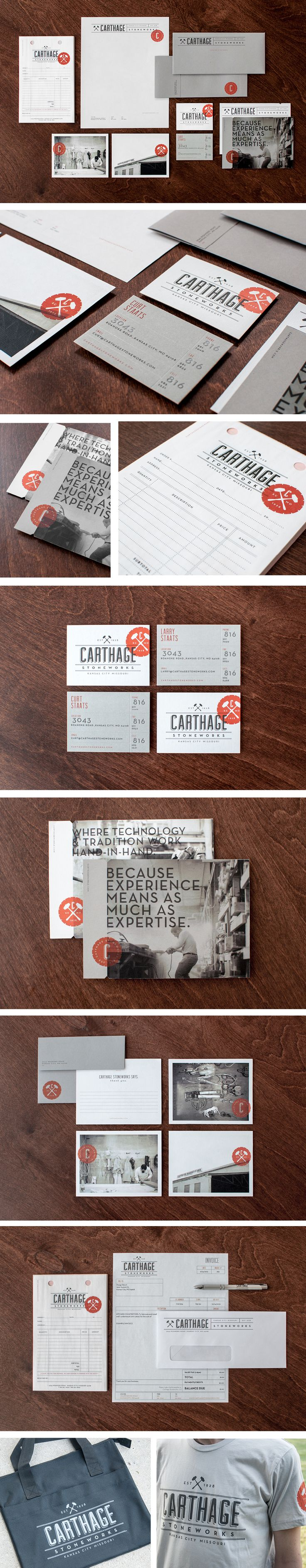 Carthage Stoneworks | Branding Business Collateral Copywriting Design Marketing Materials Name Signage Website | Design Ranch