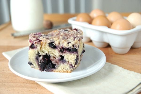 Lemon Blueberry Buckle. Note to self: buy fresh blueberries before they're gone!